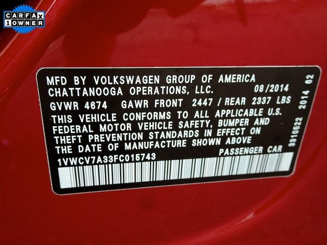 2015 Volkswagen Passat 2.0L TDI SEL Premium Madison, NC 54