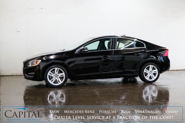 2015 Volvo S60 T5 Premier AWD Luxury Sedan w/Navigation, Backup Cam, Heated Seats, Moonroof & Bluetooth in Eau Claire, Wisconsin 54703