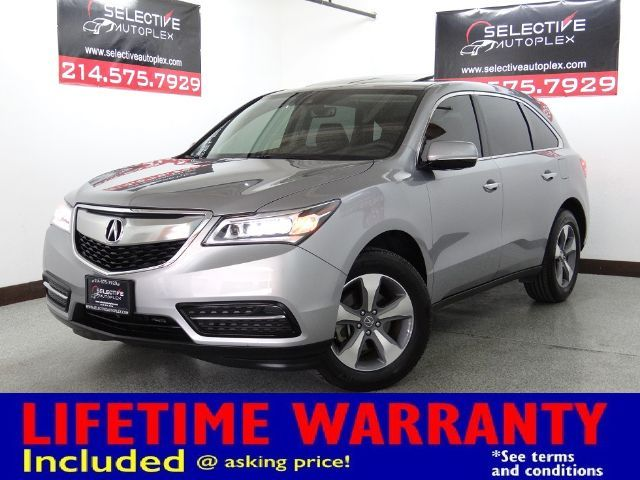 2016 Acura MDX SUNROOF, REAR VIEW CAM, LEATHER SEATS