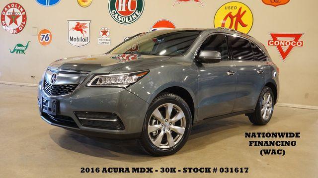 2016 Acura MDX w/Advance AWD,ROOF,NAV,REAR DVD,HTD/COOL LTH,30K