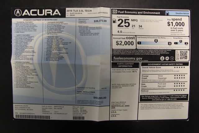 2016 Acura TLX V6 Tech Richmond, Virginia 32