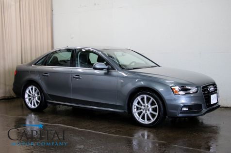 2016 Audi A4 Premium 2.0T Quattro AWD Luxury Sport Sedan with Heated Seats, Moonroof and Concert Audio in Eau Claire