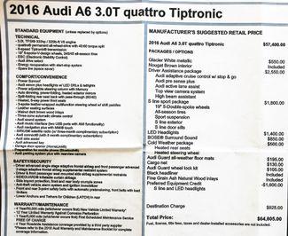 2016 Audi A6 3.0T Quattro S Line Sport PKG in Alexandria VA