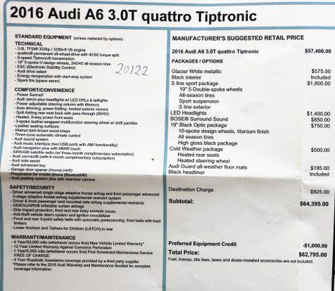 2016 Audi A6 3.0T Quattro Premium Plus S Line Sport PKG in Alexandria, VA
