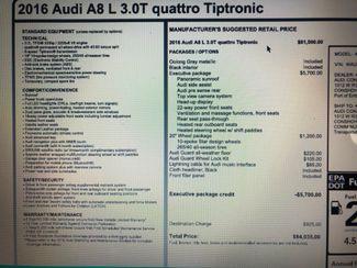 2016 Audi A8 L 3.0T QUATTRO Chesterfield, Missouri 36