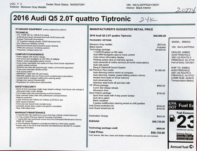 2016 Audi Q5 2.0T Quattro Premium Plus in Alexandria VA