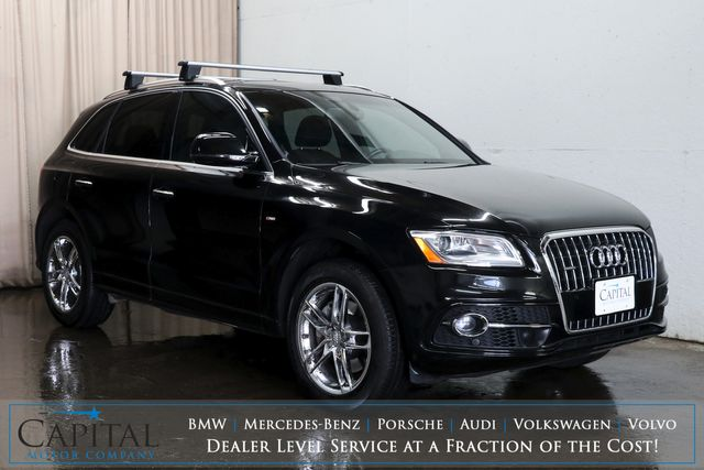 2016 Audi Q5 Prestige 3.0T Quattro AWD Luxury Crossover with Technology Pkg, B&O Premium Audio & Climate Seats