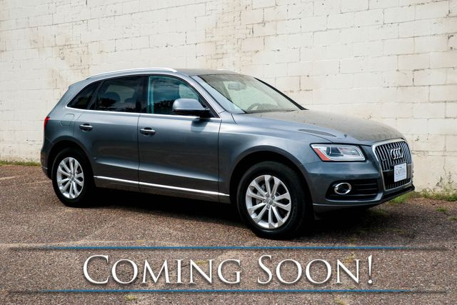 2016 Audi Q5 Premium Plus Quattro Luxury SUV w/ Nav, Backup Cam, Heated Seats & Panoramic Roof