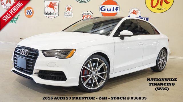 2016 Audi S3 Prestige ROOF,NAV,BACK-UP,HTD LTH,B&O SYS,24K