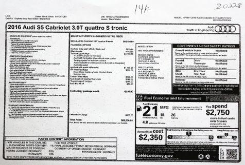 2016 Audi S5 3.0T Quattro Cabriolet in Alexandria, VA