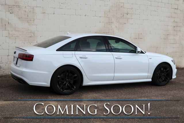 2016 Audi S6 Premium Plus Quattro AWD w/Black Optics Pkg, Carbon Trim & Diamond Stitch Interior in Eau Claire, Wisconsin 54703
