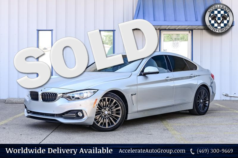 2016 BMW 435i Gran Coupe 3.0L TURBO CHARGED 435i GRAN COUPE LUX PKG NAV in Rowlett Texas