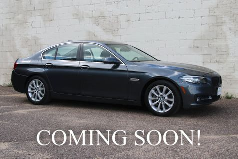 2016 BMW 535xi xDrive AWD Luxury Car w/Navigation, Heated F/R Seats, Premium Audio & Amazing 2-Tone Interior in Eau Claire