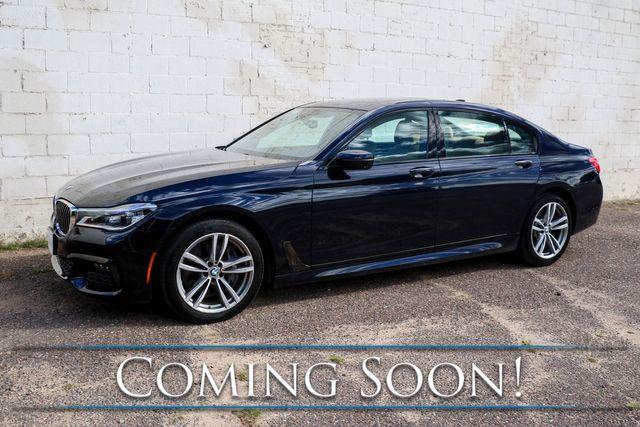 2016 BMW 750xi xDrive AWD V8 Executive Sedan w/M-Sport Pkg, Driver Assist & Executive 2 Pkgs and 2-Tone Int