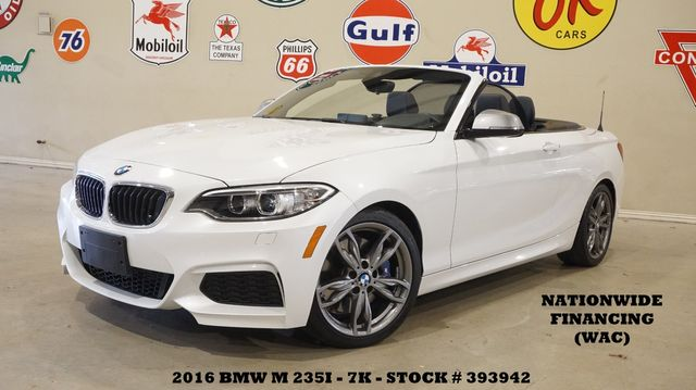 2016 BMW M235i Convertible PWR TOP,NAV,HTD LTH,7K,WE FINANCE