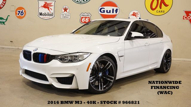 2016 BMW M3 Sedan HUD,ROOF,NAV,SIDE & TOP CAM,HTD LTH,40K