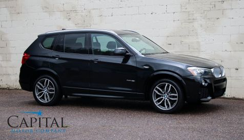 2016 BMW X3 xDrive AWD Turbo Crossover SUV w/M-Sport Pkg, Navigation, Backup Cam, Panoramic Roof & 19