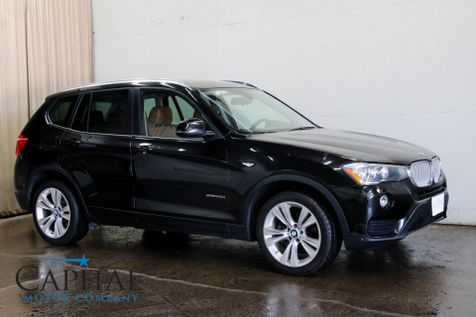 2016 BMW X3 xDrive28d AWD Clean Diesel w/Navigation Backup Cam Heated Seats Panoramic Roof & 19
