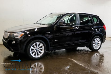 2016 BMW X3 xDrive28i AWD Crossover w/Navigation Backup Cam Heated Seats Panoramic Roof & Bluetooth Audio in Eau Claire