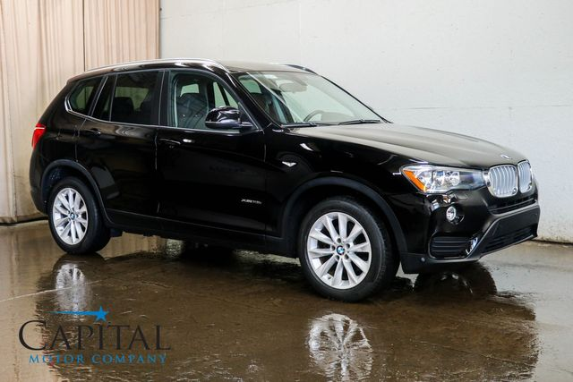 2016 BMW X3 xDrive28i AWD Crossover w/Navigation Backup Cam Heated Seats Panoramic Roof & Bluetooth Audio in Eau Claire, Wisconsin 54703