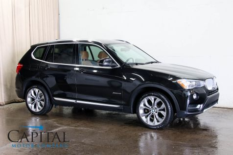 2016 BMW X3 xDrive28i AWD Sport SUV w/Driver Assistance Pkg, Panoramic Roof, Heated Seats & 19