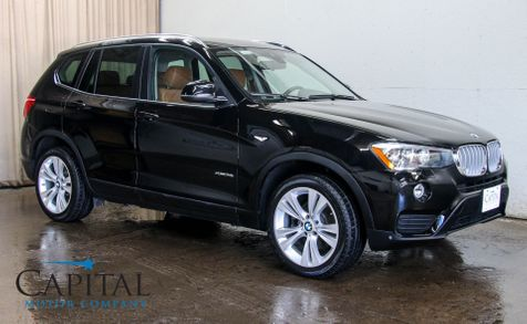 2016 BMW X3 xDrive28i AWD w/Navigation, 360º Surround View Cam, Heated Seats, Panoramic Roof & 19