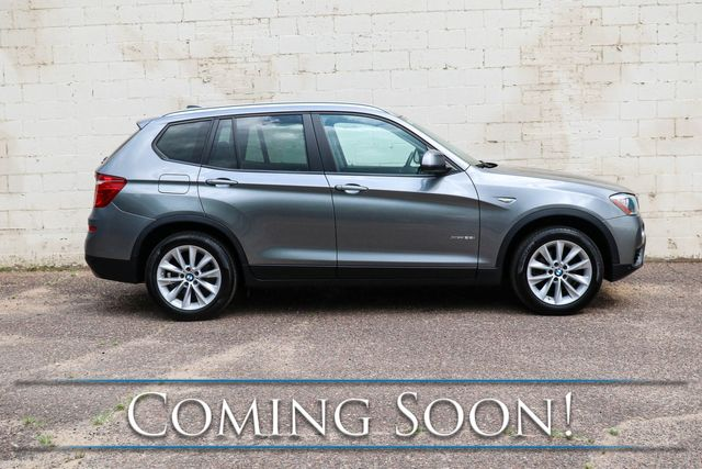 2016 BMW X3 xDrive28i AWD Crossover w/Head-Up Display, Nav, Backup Cam, Heated Seats and Panoramic Roof in Eau Claire, Wisconsin 54703