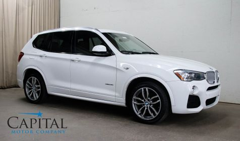 2016 BMW X3 xDrive35i AWD M-SPORT SUV with Navigation, Heated F/R Seats, Harman/Kardon Audio & 19