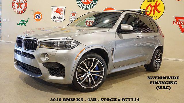 2016 BMW X5 M HUD,PANO ROOF,NAV,360 CAM,HTD/COOL LTH,20'S,43K