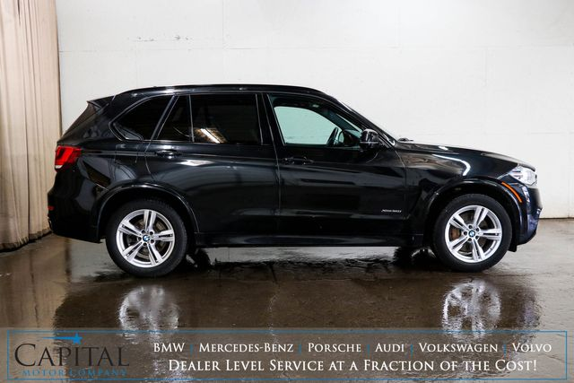 2016 BMW X5 xDrive50i AWD with M-SPORT Pkg, Nav, Head-Up Display, Climate Seats & 3rd Row Seating in Eau Claire, Wisconsin 54703