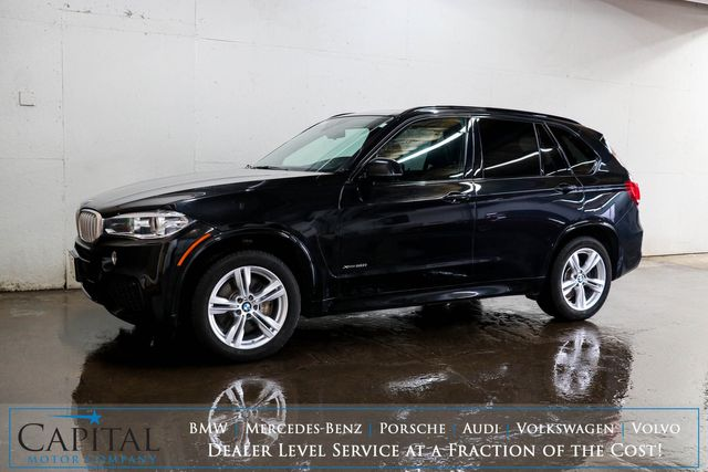 2016 BMW X5 xDrive50i AWD with M-SPORT Pkg, Nav, Head-Up Display, Climate Seats & 3rd Row Seating