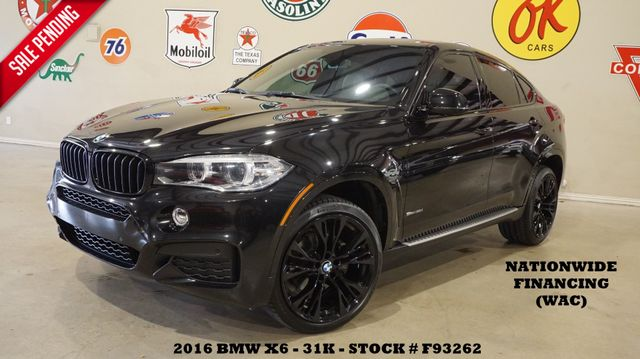 2016 BMW X6 sDrive 35i MSRP 72K,HUD,ROOF,NAV,HTD/COOL LTH,31K in Carrollton, TX 75006