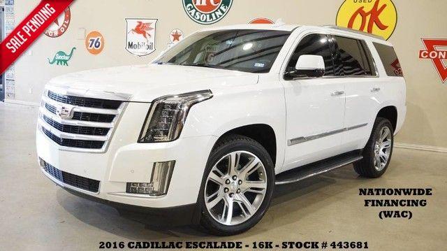2016 Cadillac Escalade Luxury HUD,ROOF,NAV,360 CAM,REAR DVD,QUADS,22'S...