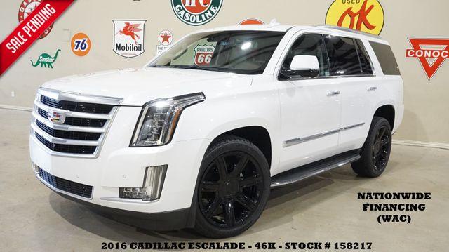 2016 Cadillac Escalade Luxury HUD,ROOF,NAV,360 CAM,QUADS,BLK 22'S,46K!