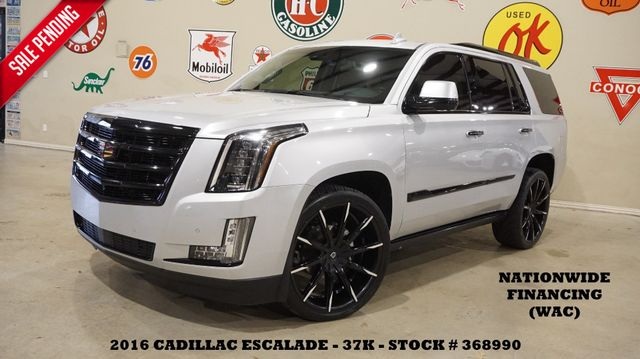 2016 Cadillac Escalade Premium 4WD HUD,ROOF,360 CAM,REAR DVD,24'S,37K
