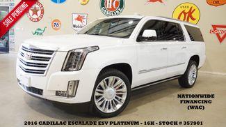 2016 Cadillac Escalade ESV Platinum HUD,ROOF,NAV,360 CAM,REAR DVD,22'S,16K in Carrollton TX, 75006