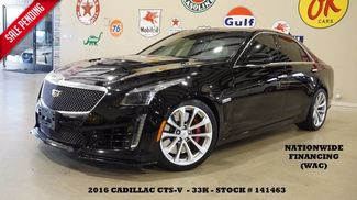 2016 Cadillac CTS-V Sedan HUD,PANO ROOF,NAV,BACK-UP,RECARO,33K,WE FINANCE in Carrollton TX, 75006