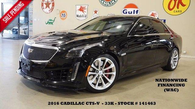 2016 Cadillac CTS-V Sedan HUD,PANO ROOF,NAV,BACK-UP,RECARO,33K,WE FINANCE