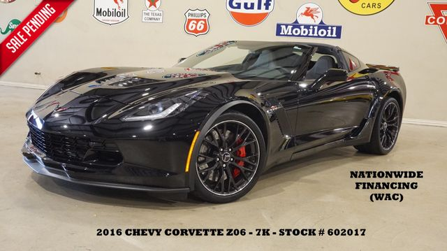 2016 Chevrolet Corvette Z06 3LZ AUTO,NAV,F. CAM,HTD/COOL LTH,BLK WHLS,7K