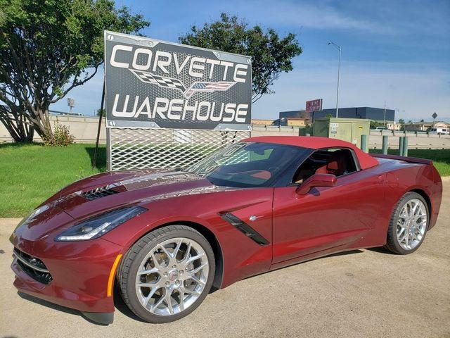 2016 Chevrolet Corvette CONV 3LT, ZF1, ZLE Spice Red, FE2, NAV, PDR, 6k