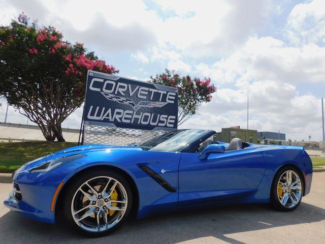 2016 Chevrolet Corvette Conv 2LT, ZF1, FE2, NAV, PDR, Auto, Chromes 14k