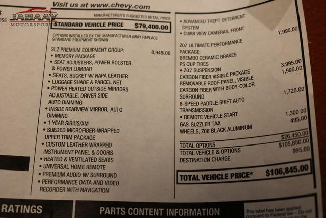 2016 Chevrolet Corvette Z06 3LZ Z07 Ultimate Package Merrillville, Indiana 56