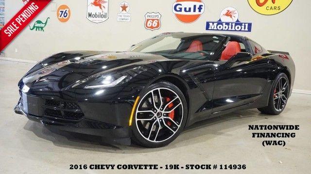 2016 Chevrolet Corvette Stingray Coupe Z51 2LT AUTO,HUD,NAV,F&R CAM,HTD/COOL LTH,19K