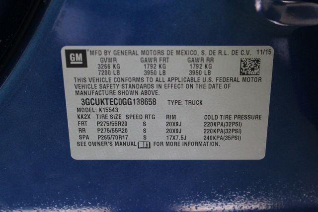 2016 Chevrolet Silverado 1500 HIGH COUNTRY PREMIUM PKG 4X4 - DRIVER ALERT PKG! Mooresville , NC 55