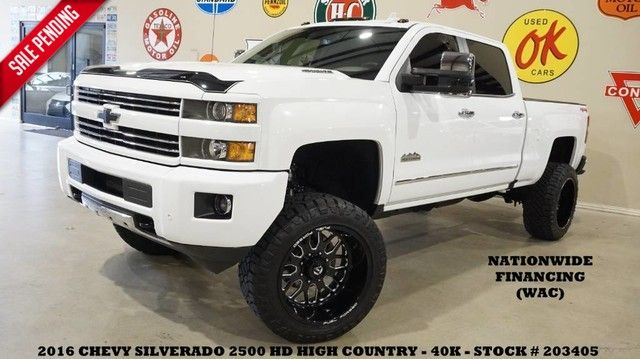 2016 Chevrolet Silverado 2500HD High Country 4X4 LIFTED,NAV,22IN FUEL WHLS,40K!