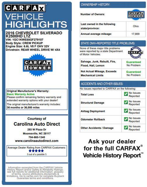 2016 Chevrolet Silverado 2500HD LTZ PLUS Crew Cab 4x4 - DRIVER ALERT - EXTRA$! Mooresville , NC 3