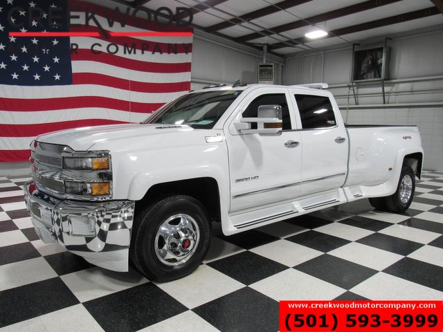 2016 Chevrolet Silverado 3500HD LTZ 4x4 Diesel Dually Western Hauler Nav White in Searcy, AR 72143