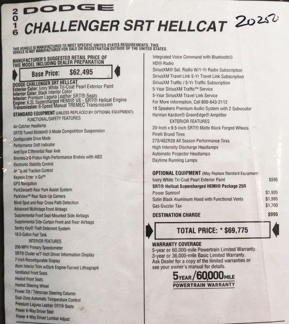 2016 Dodge Challenger SRT Hellcat in Alexandria VA