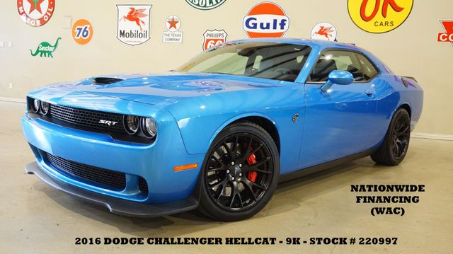 2016 Dodge Challenger SRT Hellcat AUTO,NAV,HTD/COOL LTH BLK 20'S,9K