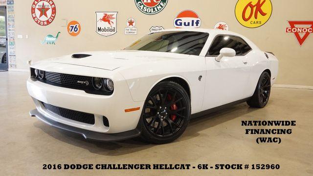 2016 Dodge Challenger SRT Hellcat 6 SPD,ROOF,NAV,HTD/COOL LTH,20'S,6K
